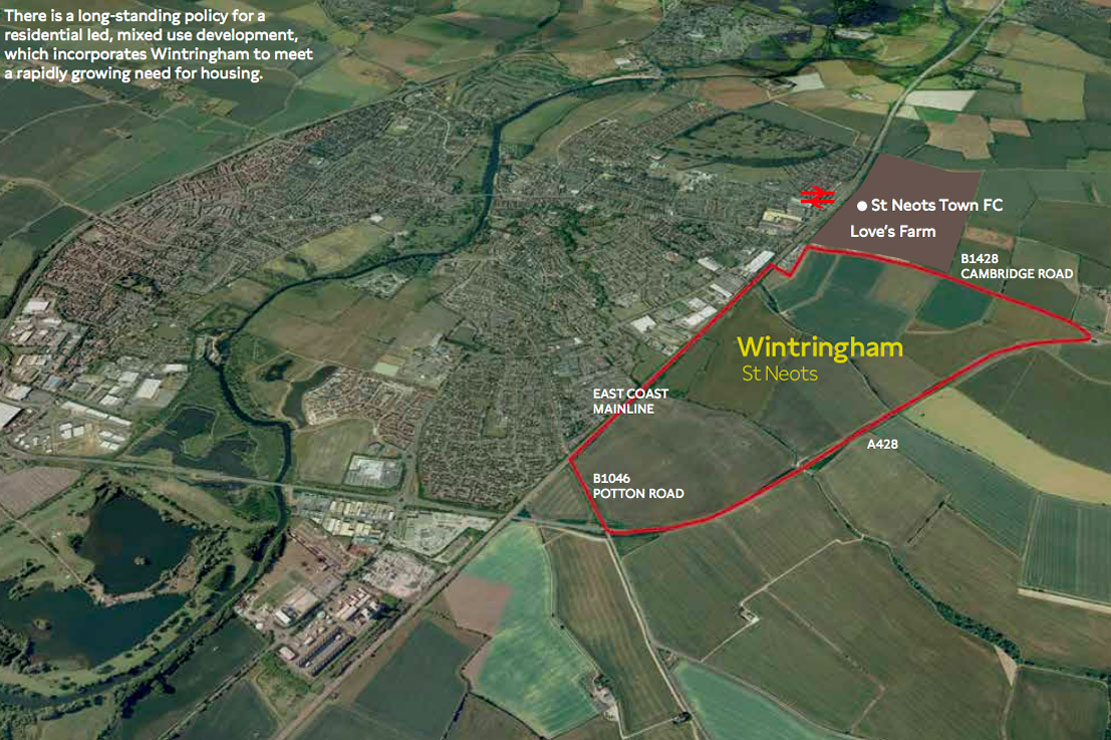 wintringham st neots map