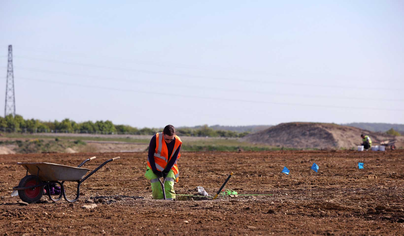 Archaeology, digging at Wintringham St Neots